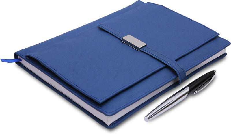 COI Blue Executive Corporate Undated Business Diary/Notebook for Women Professional to Do List Memo Organizer Planner Business Man Gifts with Pen Regular Gift Set 220 Pages(Blue)