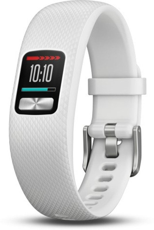 Garmin Vivofit 4(White Strap, Size : Regular)
