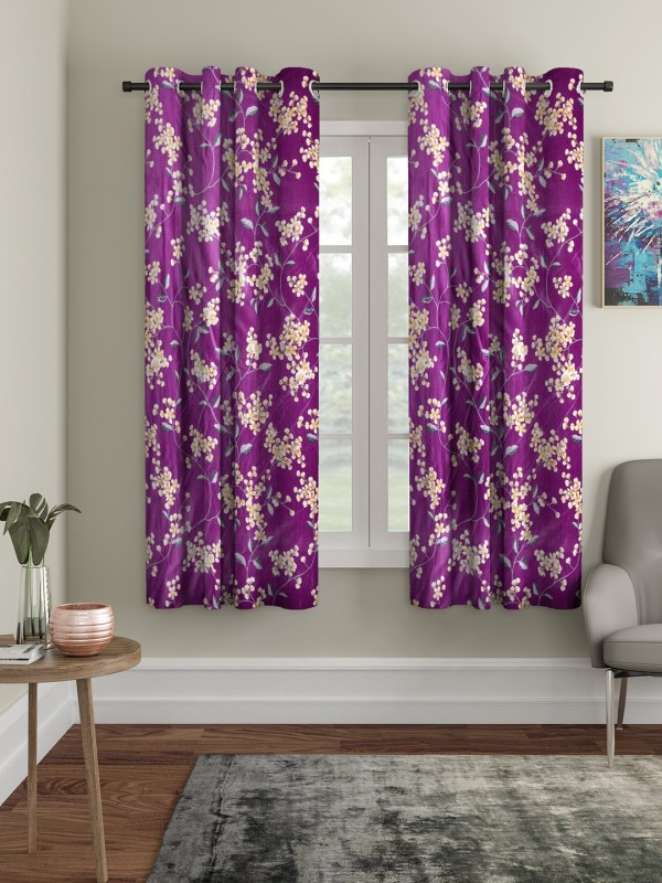 check MRP of purple curtains for living room Cortina