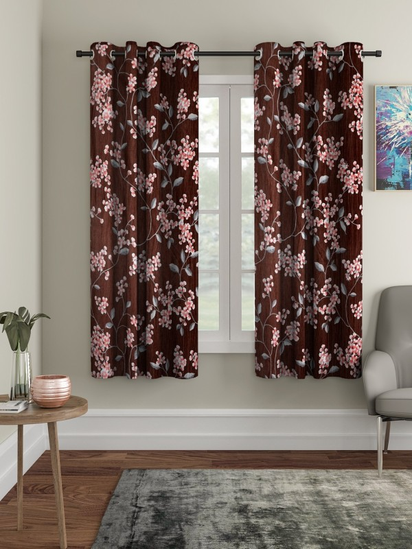 check MRP of brown curtains living room Cortina