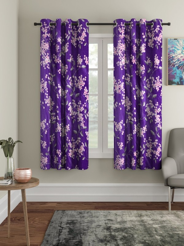 check MRP of purple curtains living room Cortina