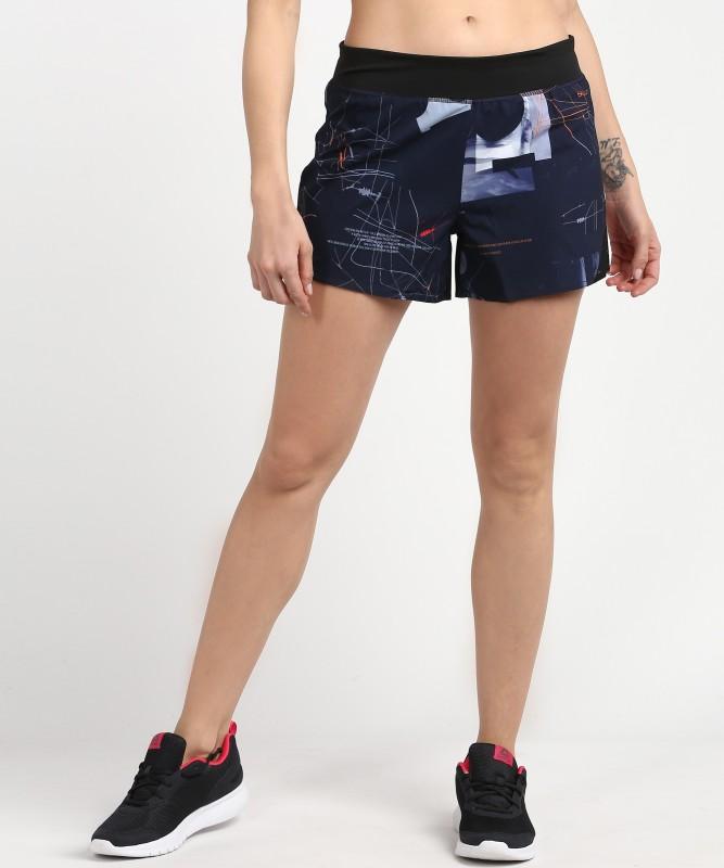REEBOK Printed Women Blue Running Shorts