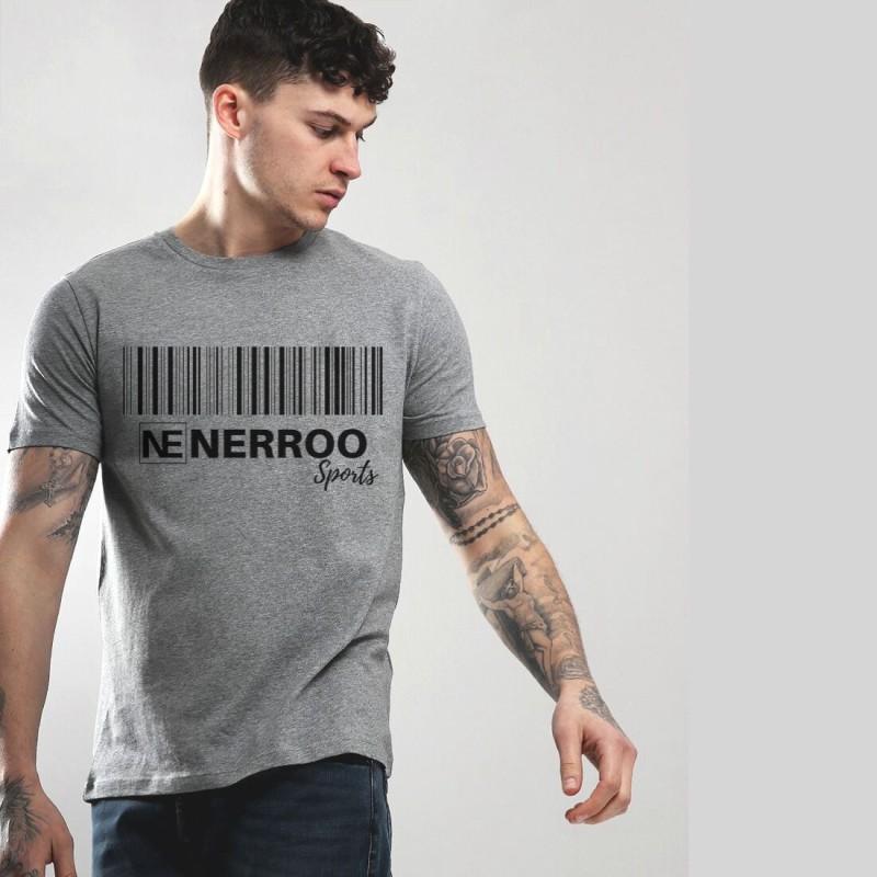Nerroo Printed Men & Women Round Neck Grey T-Shirt