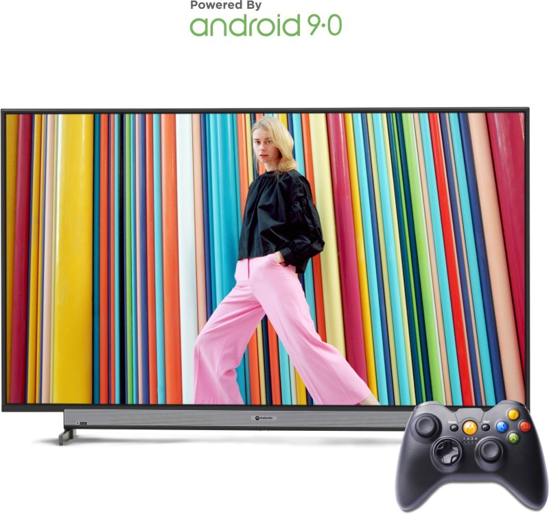 Motorola 107.6cm (43 inch) Full HD LED Smart Android TV with Wireless Gamepad(43SAFHDM)