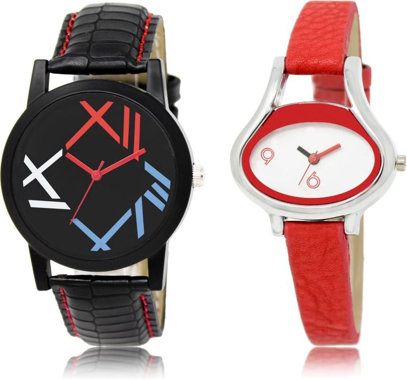 TESLO 12-206 Pack of 2 New Designer Combo Analog Watch  - For Men & Women