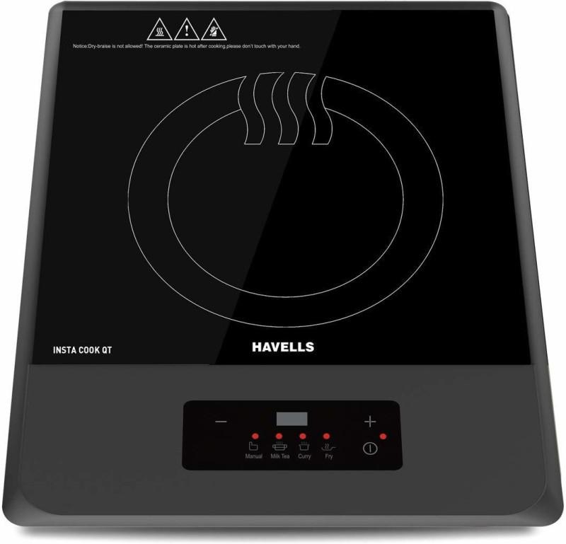 Havells Insta Cook QT Induction Cooktop, Grey, 1200 W Induction Cooktop(Grey, Push Button)