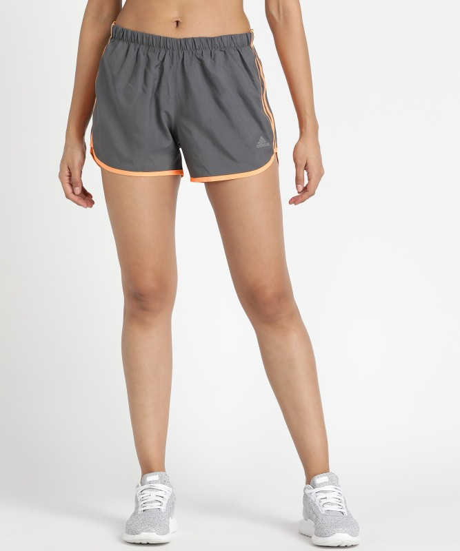 ADIDAS Solid Women Grey Running Shorts