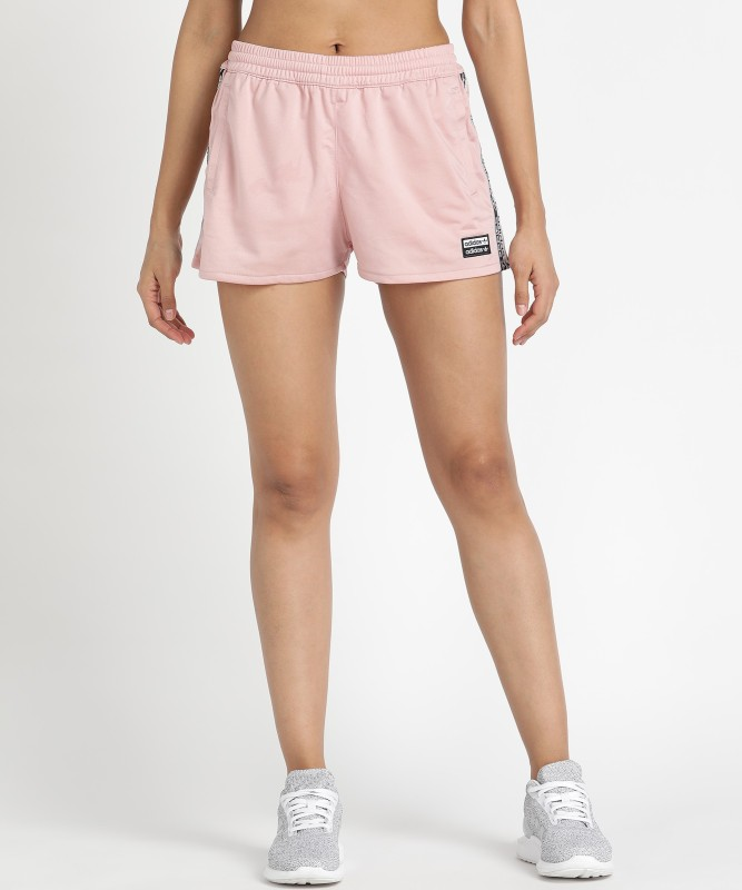 ADIDAS ORIGINALS Solid Women Pink Sports Shorts