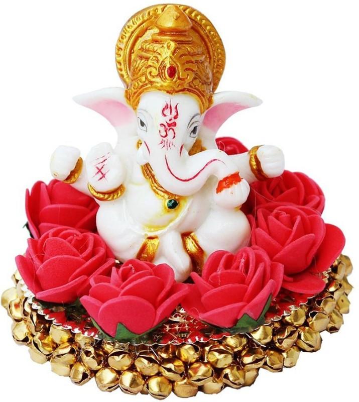 Craft Junction Blessing Lord Ganesha On Bangles Decorative Showpiece  -  9 cm(Aluminium, Multicolor)