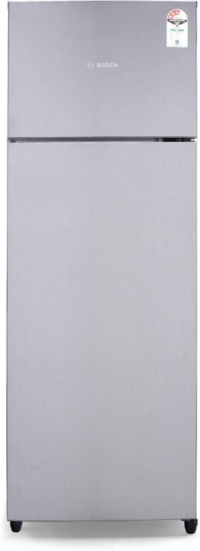 Bosch 288 L Frost Free Double Door 3 Star (2019) Refrigerator(Silver, KDN30VN30I)
