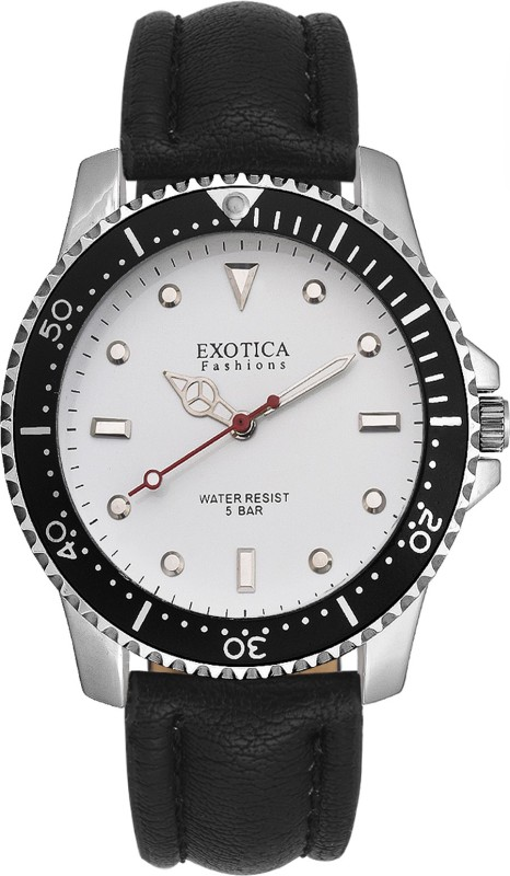 Exotica Fashions EFG-117-LS-White-Black-New New Series Analog Watch - For Men