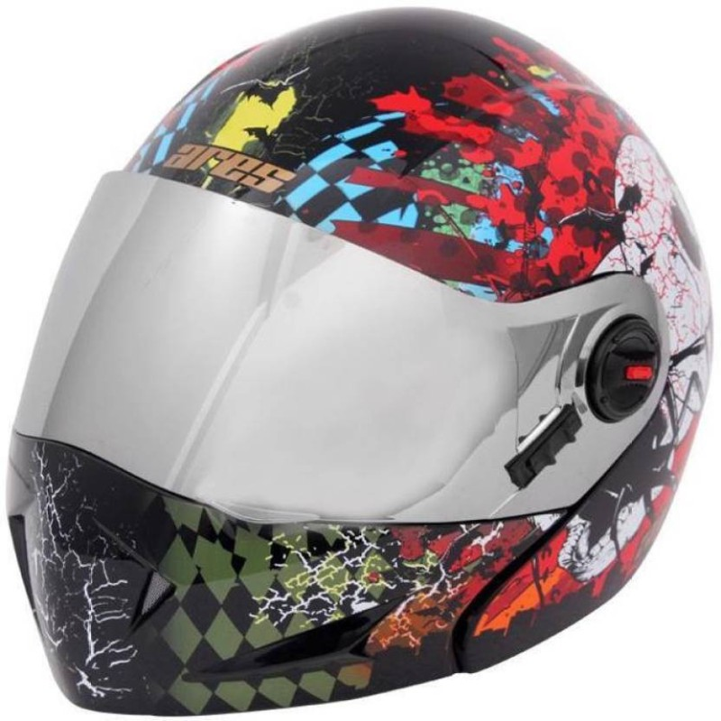 Steelbird Ares A-1 Skull GB1X Motorbike Helmet(Glossy Black)