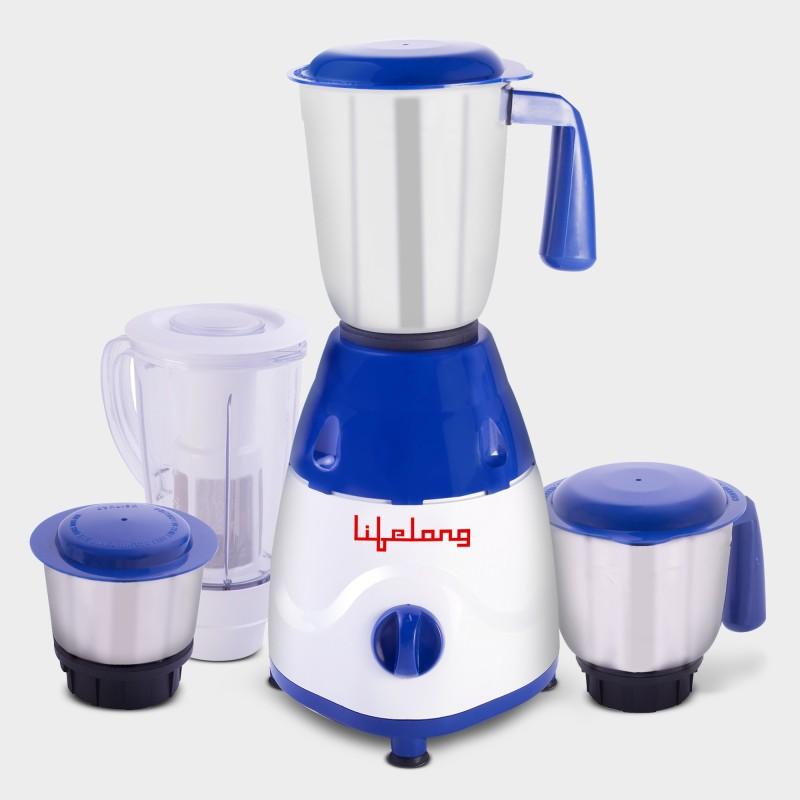 Lifelong Rapid LLMG78 750 W Juicer Mixer Grinder(Blue, 4 Jars)