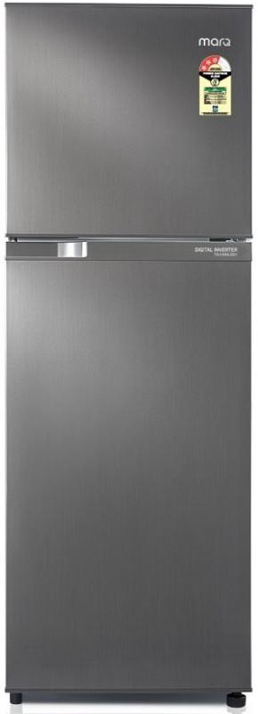 MarQ by Flipkart 252 L Frost Free Double Door 3 Star (2019) Refrigerator(Sliver, 252CFDS3MQ)