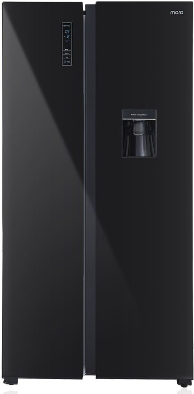 MarQ by Flipkart 566 L Frost Free Side by Side (2019) Refrigerator with Glass Door(Black, 560GHSBMQ)