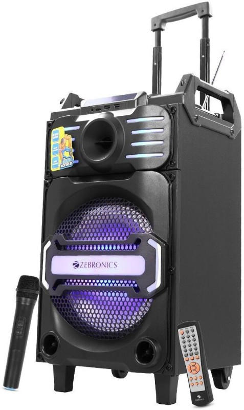 Zebronics Moving Monster x10 Bluetooth Party Speaker(Black, Mono Channel)