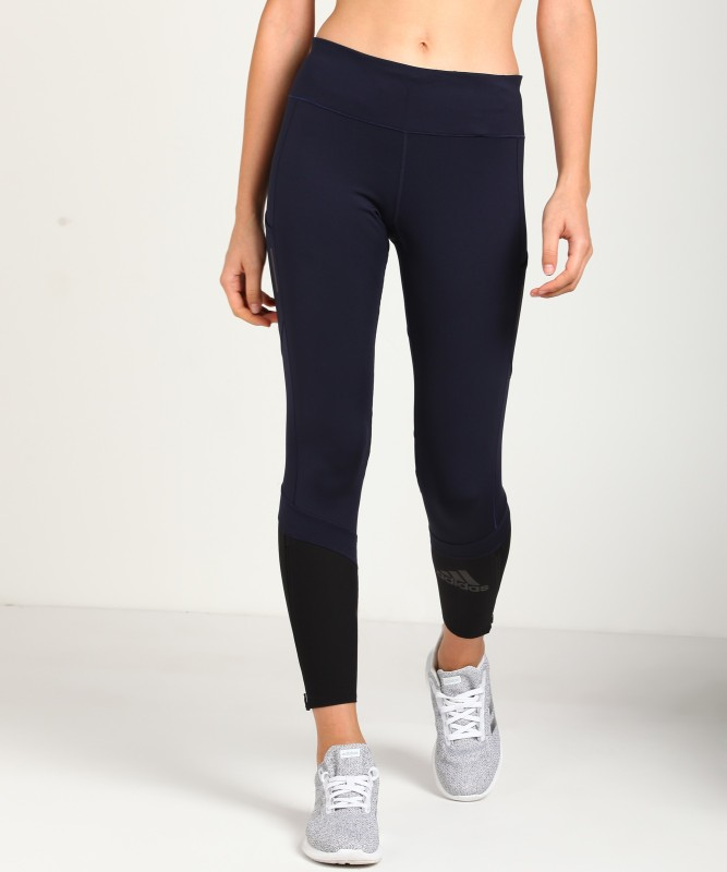 ADIDAS ORIGINALS Solid Women Blue Tights