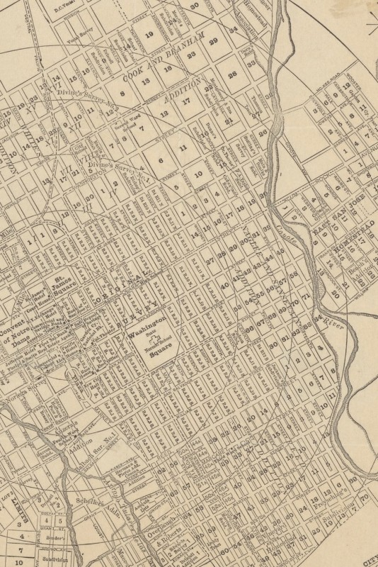 19th Century Map of San Jose, California - A Poetose Notebook / Journal / Diary (50 pages/25 sheets)(English, Paperback, unknown)