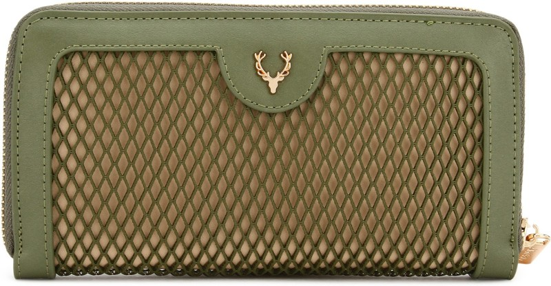 Allen Solly Casual Green  Clutch