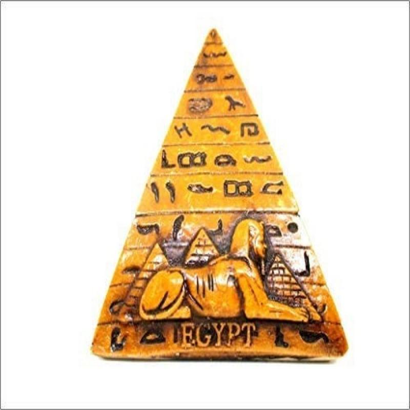 Jet International Original Egyptian Pyramid 4 inch Khufu Giza Pharaoh Collectible Decorative Showpiece - 10.16 cm(Stone, Yellow)