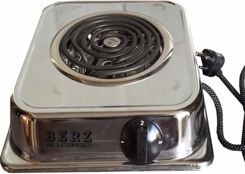 BERZ 101-Chrome plate-induction Radiant Cooktop(Silver, Jog Dial)