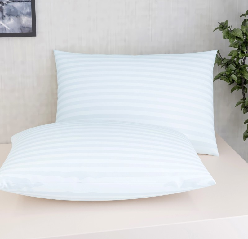 Flipkart SmartBuy Polyester Fibre Stripes Sleeping Pillow Pack of 2(White)