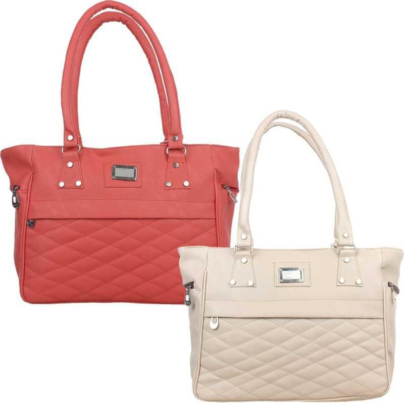 Online Hub Women Red, White Handbag