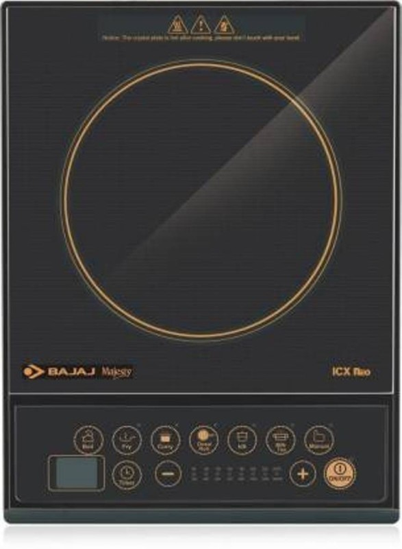 Bajaj O Induction Cooktop(Black, Push Button)