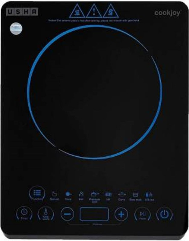 Usha 3820 Induction Cooktop(Multicolor, Black, Touch Panel)