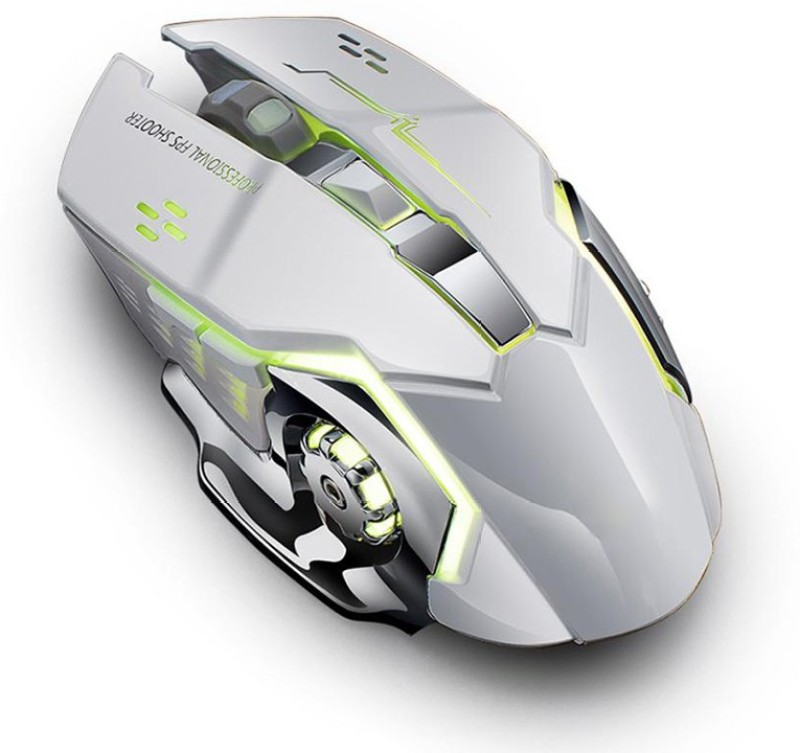 SaiDeng Gaming Mouse USB Optical Mouse Wireless Optical Gaming Mouse(Bluetooth, White)