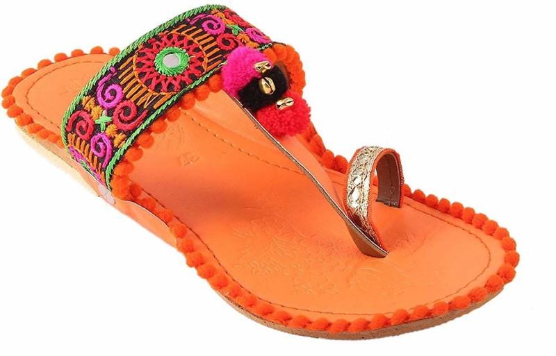 TARGET GOLD Women Orange Flats