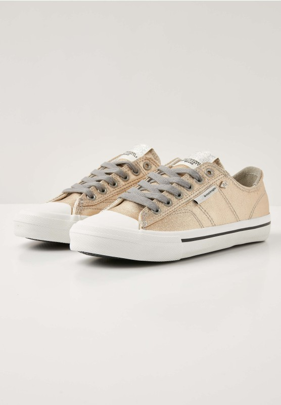 BRITISH KNIGHTS BRITISH KNIGHTS WOMENS CASUAL SHOES CHASE GOLD Size-5 Casuals For Women(Gold)