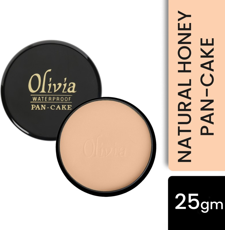 Olivia 100% Waterproof Pan Cake Concealer 25g Shade No. 24 Concealer(Natural Honey, 25 g)
