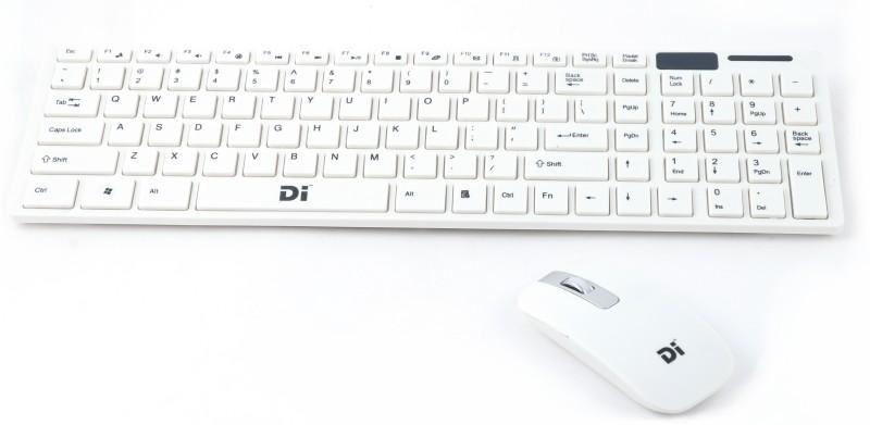 Di Best Wireless Keyboard Mouse Combo Wireless Laptop Keyboard(White)