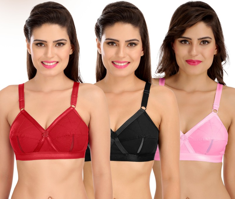 Cotton Bra Perfecto Full Cup Plus Size Everyday Non Padded Inner Wear Women/'s
