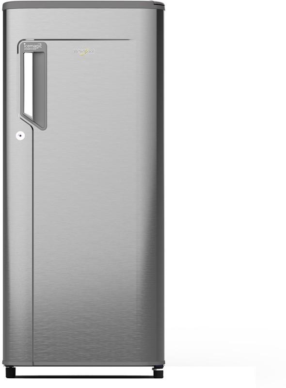 Whirlpool 190 L Direct Cool Single Door 5 Star (2019) Refrigerator(Magnum Steel, 205 IMPC PRM 5S MAGNUM STEEL-E/205 IMPWCL PRM 5S MAGNUM STEEL-E)