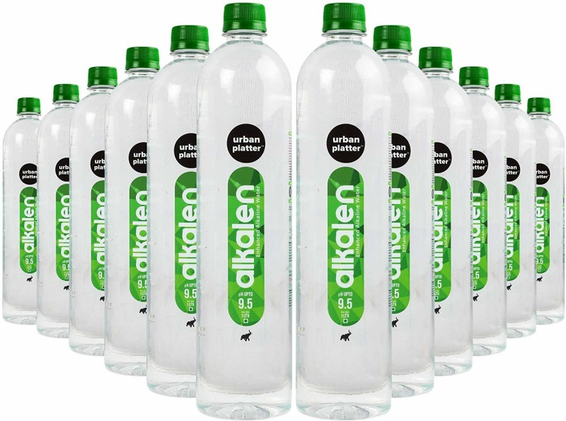 Urban Platter Alkalen Enhanced Alkaline Water, 1 Litre [Pack of 12, pH Value 9.5] Mineral(1 l, Pack of 12)