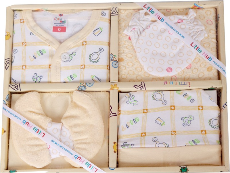 Smart Kids Born Baby Yellow Color Gift Set(Multicolor)