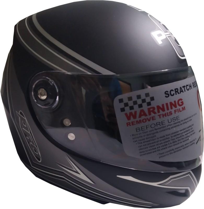 AutoVHPR Presents O2 Black Motorbike Helmet(Black)