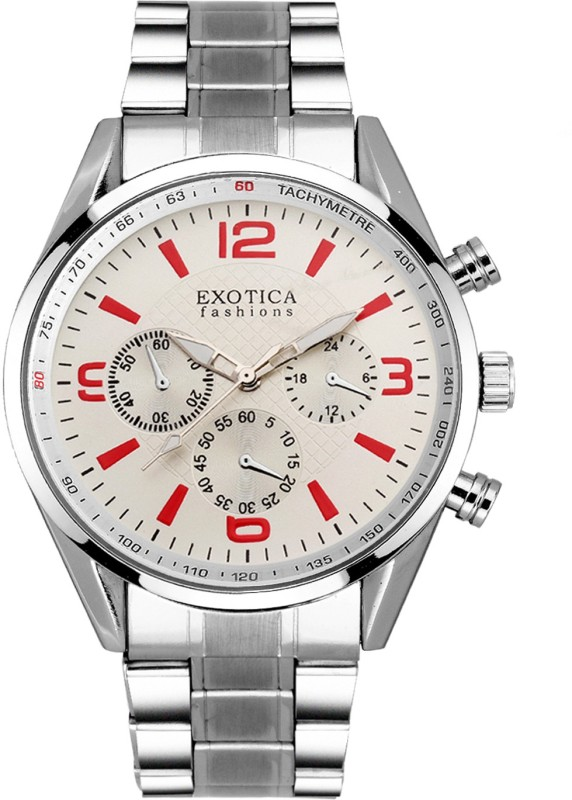 Exotica Fashions EFG-15-ST-WHITE New Series Analog Watch - For Men
