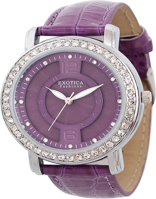 Exotica Fashions Ef-70-O-Purple-Dm Dm Series Analog Watch - For Women