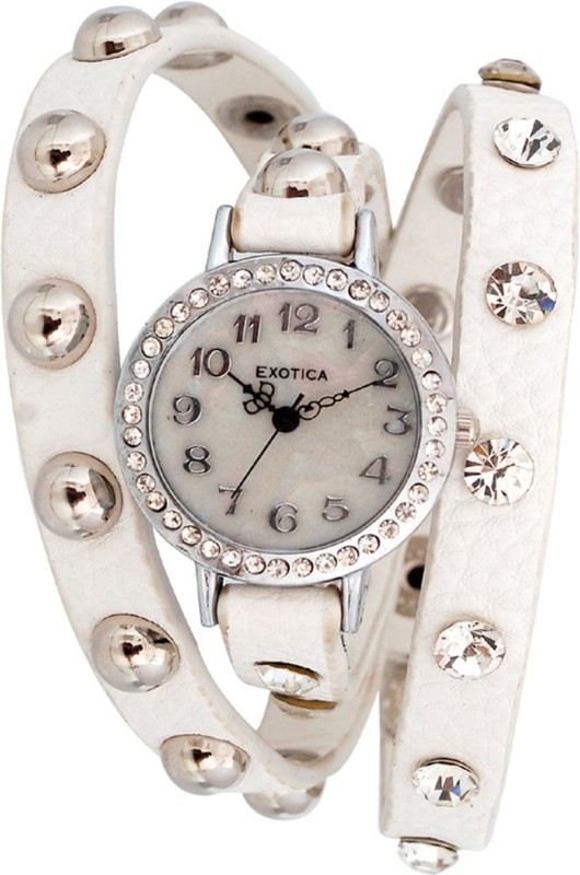 Exotica Fashions EFL-100-White Analog Watch - For Women