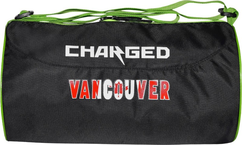 CHARGED MULTIPURPOSE CROSS COUNTRY VANCOUVER LARGE BLACK Gym Bag(Black)