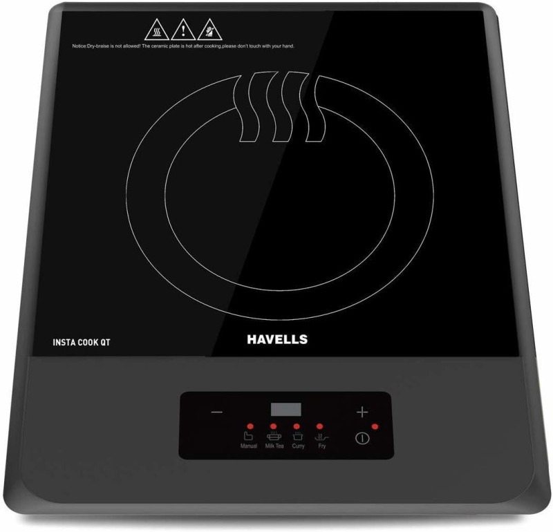 Havells QT GREY 1200 WATT Induction Cooktop(Grey, Push Button)