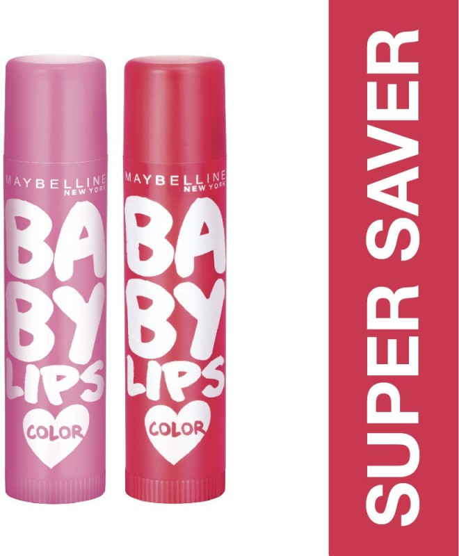 Maybelline Baby Lips Pink Lolita and Cherry Kiss(Pack of: 2, 8 g)