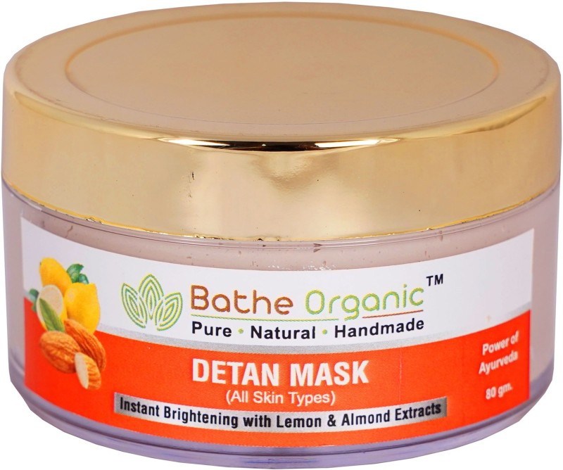 Bathe Organic De-Tan Tan Removal Face Mask For Men & Women- 80 gm(80 g)