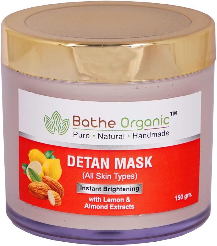 Bathe Organic De-Tan Tan Removal Face Mask For Men & Women- 150 gm(150 g)