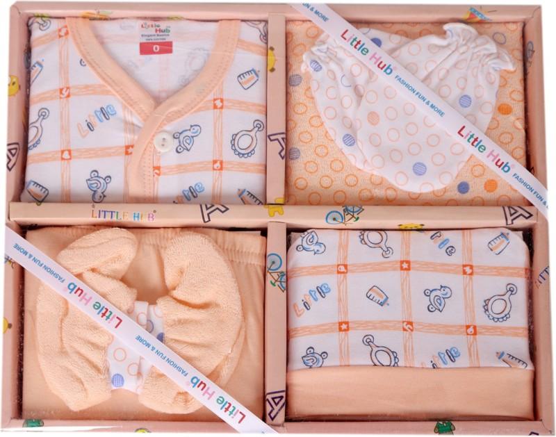 Stylish Kids Born Baby Orange Color Gift Set(Orange)
