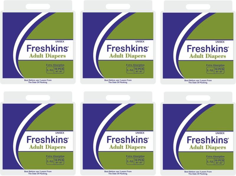 FRESHKINS Disposable Adult Diapers - L - XL(60 Pieces)
