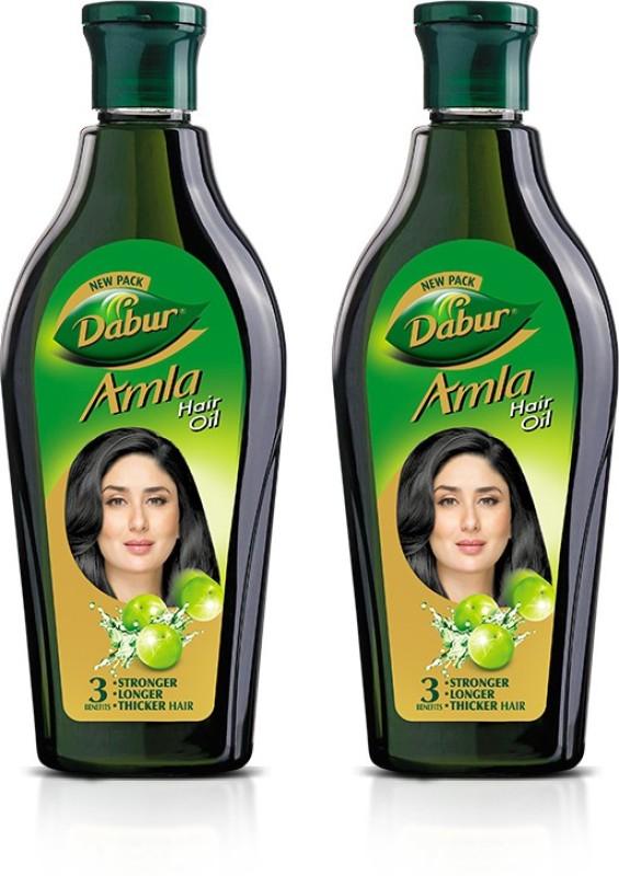 Dabur Amla Hair Oil for Long, Healthy and Strong Hair, 450 ml (Pack of 2) Hair Oil(900 ml)